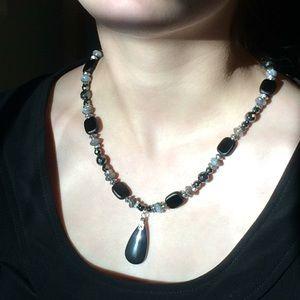 Jewelry - Hematite and Botswana Agate necklace set